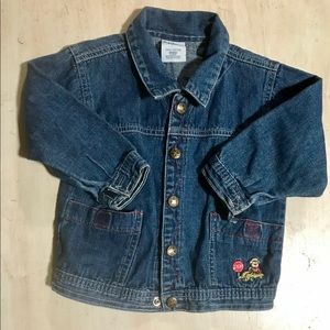 Oshkosh denim shirt jacket size 24 mos EUC